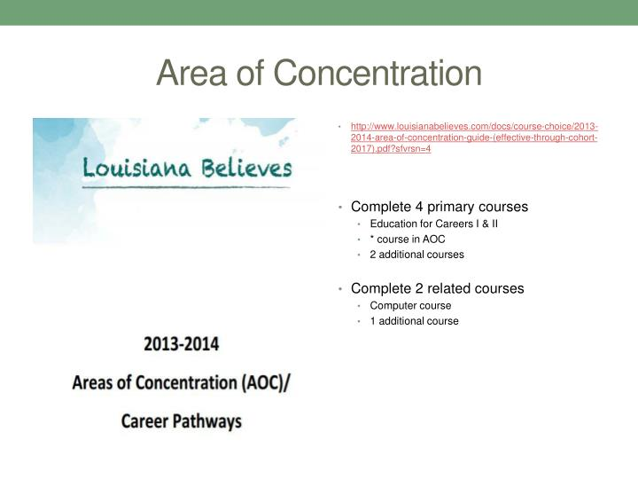 Area of Concentration