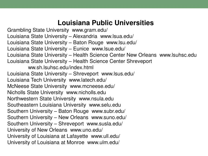 Louisiana Public Universities