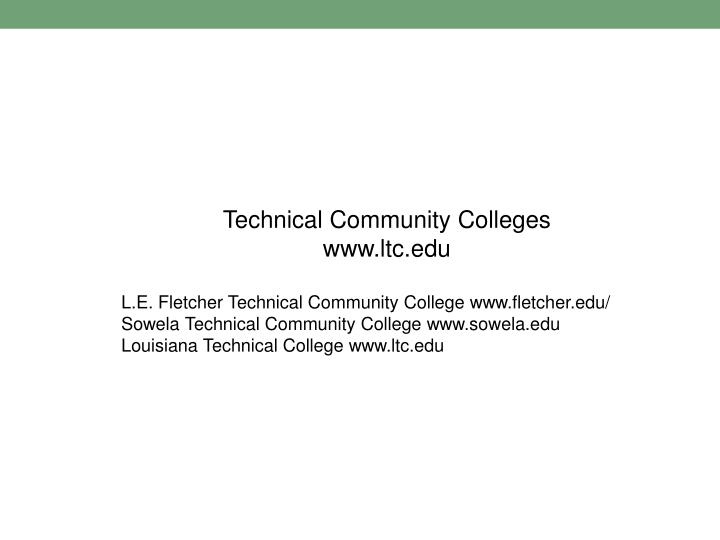 Technical Community