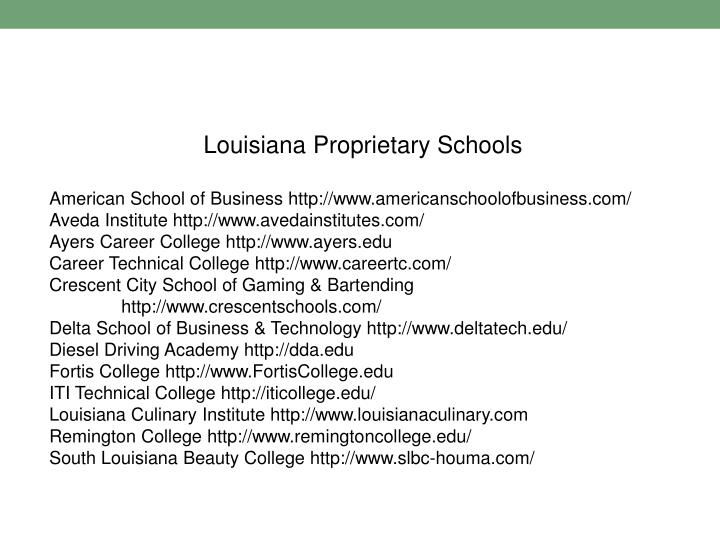 Louisiana Proprietary