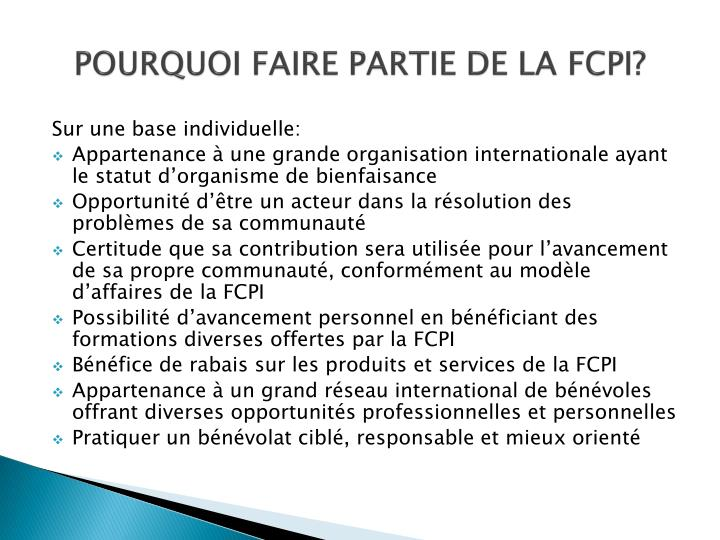 POURQUOI FAIRE PARTIE DE LA FCPI?