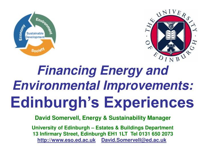 financing energy and environmental improvements edinburgh s experiences n.