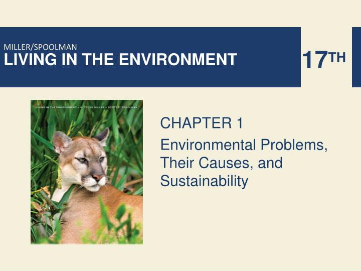 chapter 1 environmental problems their causes and sustainability n.