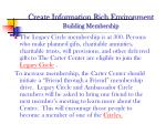 create information rich environment building membership1
