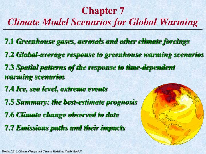 chapter 7 climate model scenarios for global warming n.