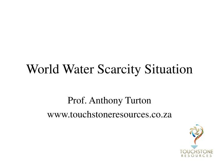 world water scarcity situation n.