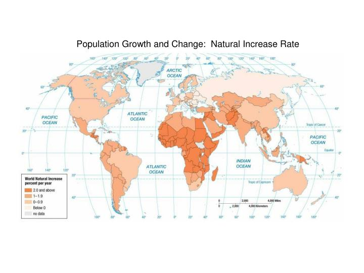 Population Growth and Change:  Natural Increase Rate