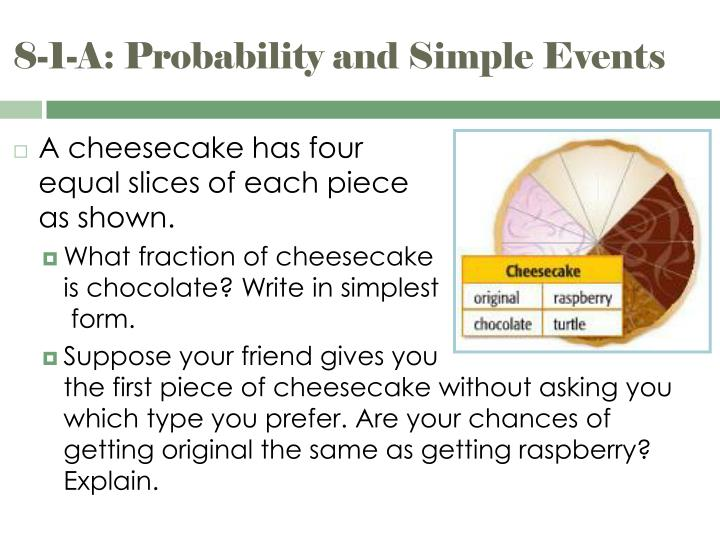 8 1 a probability and simple events