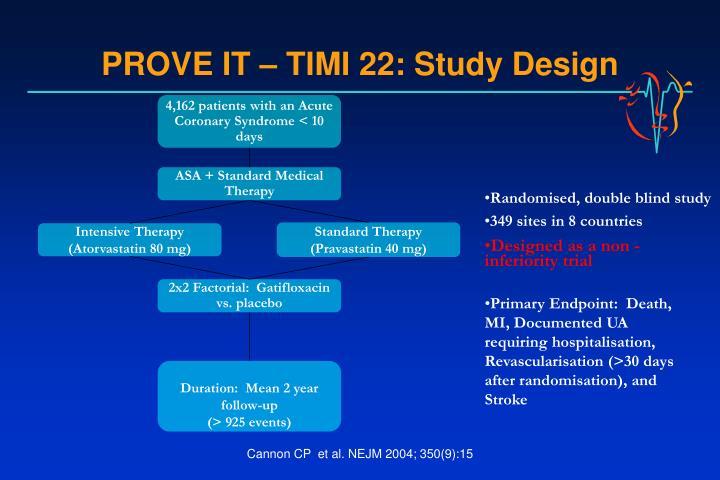 PROVE IT – TIMI 22: Study Design