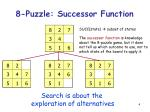 8 puzzle successor function