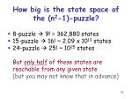 how big is the state space of the n 2 1 puzzle1