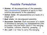 possible formulation