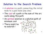 solution to the search problem1
