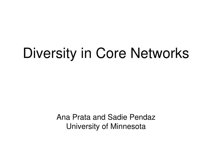 diversity in core networks n.