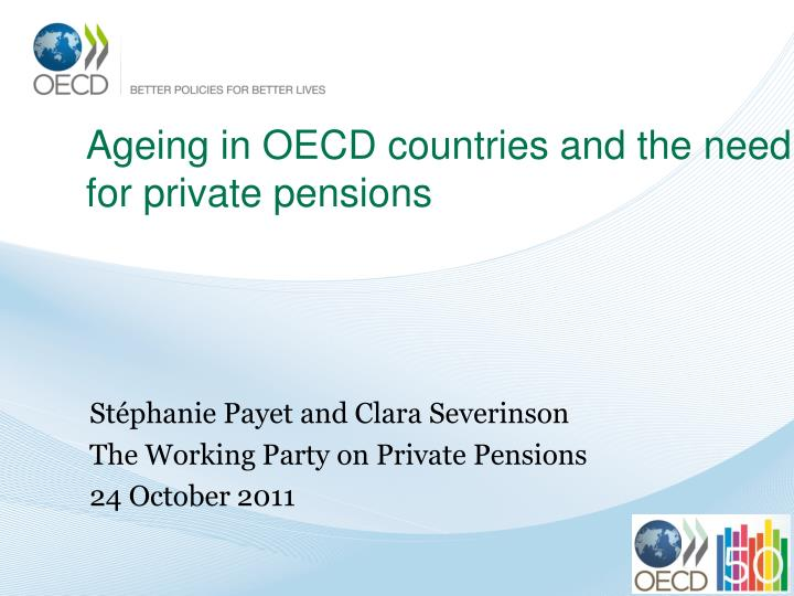 ageing in oecd countries and the need for private pensions n.