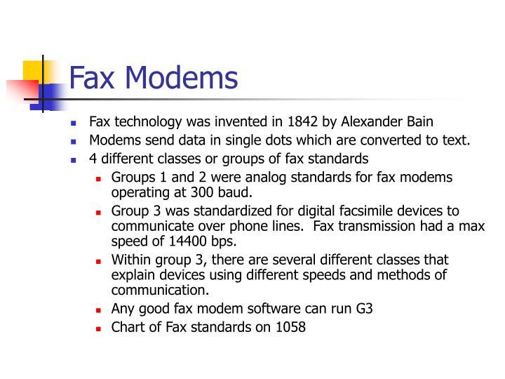 Fax Modems