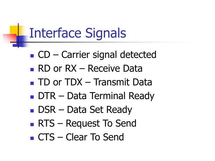 Interface Signals