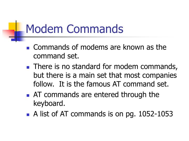 Modem Commands