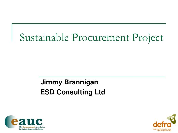 sustainable procurement project n.