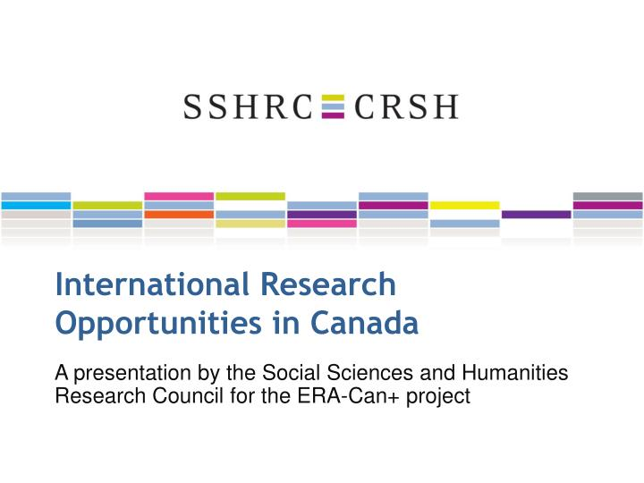 international research opportunities in canada n.