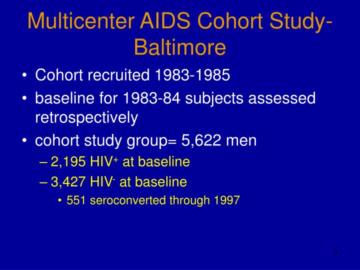 Multicenter aids cohort study baltimore