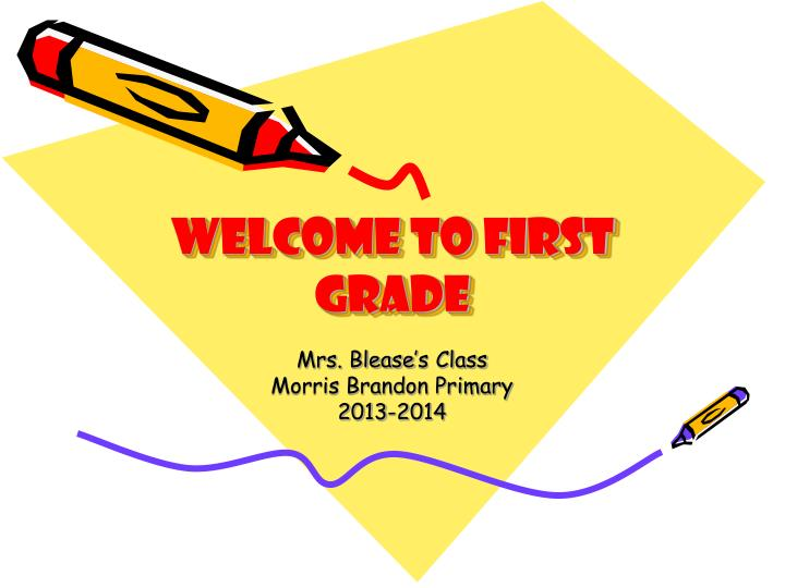 welcome to first grade n.
