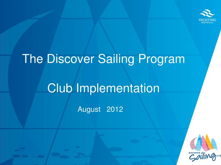 the discover sailing program club implementation n.
