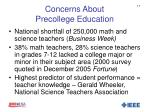 concerns about precollege education1