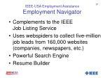 ieee usa employment assistance employment navigator