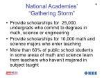 national academies gathering storm