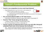 transit s fundamental problem