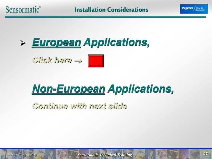 Installation Considerations