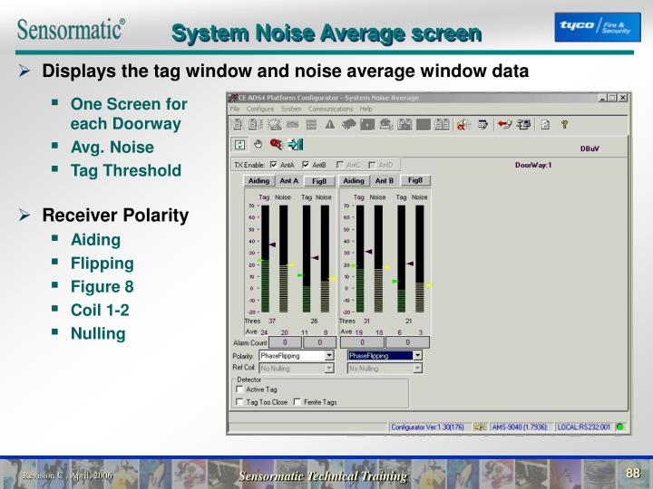 System Noise Average screen