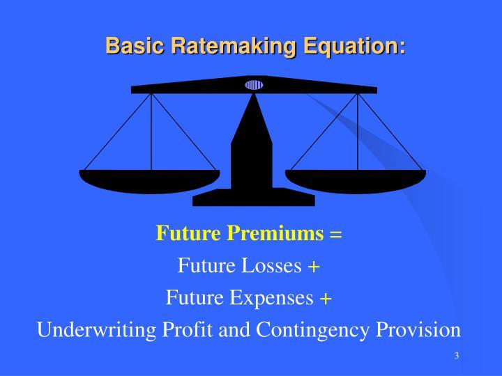 Basic ratemaking equation