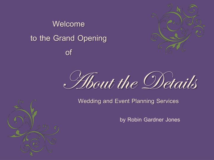 about the details wedding and event planning services n.