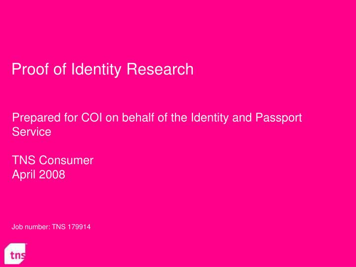 proof of identity research