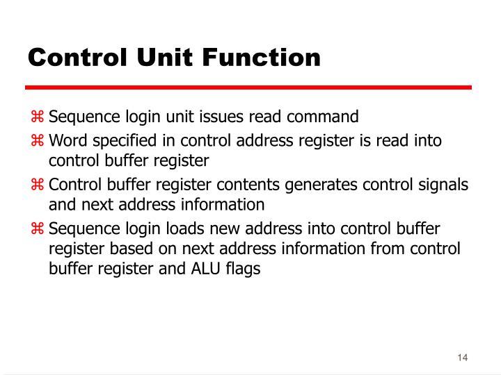 Control Unit Function