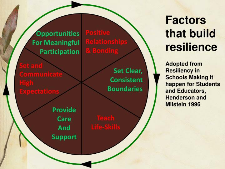 Factors that build resilience