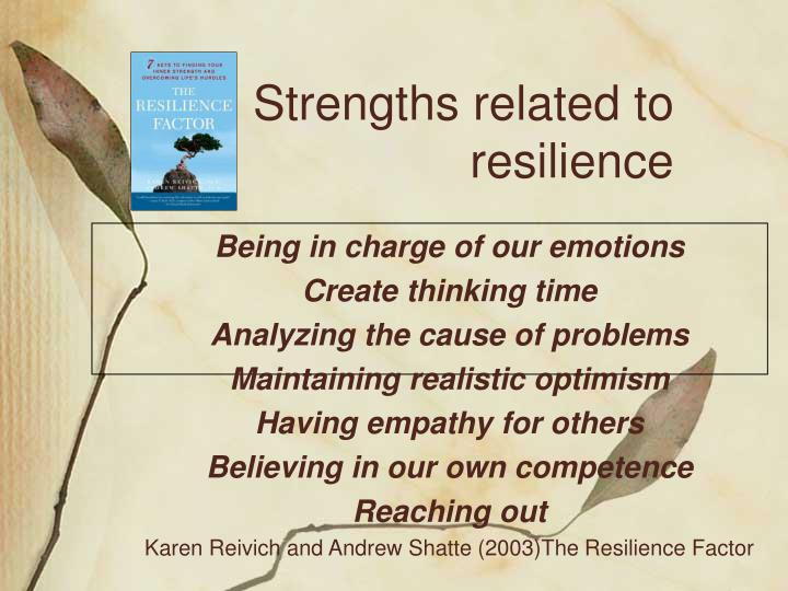 Strengths related to resilience