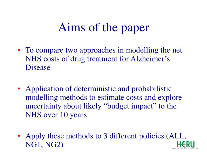 Aims of the paper