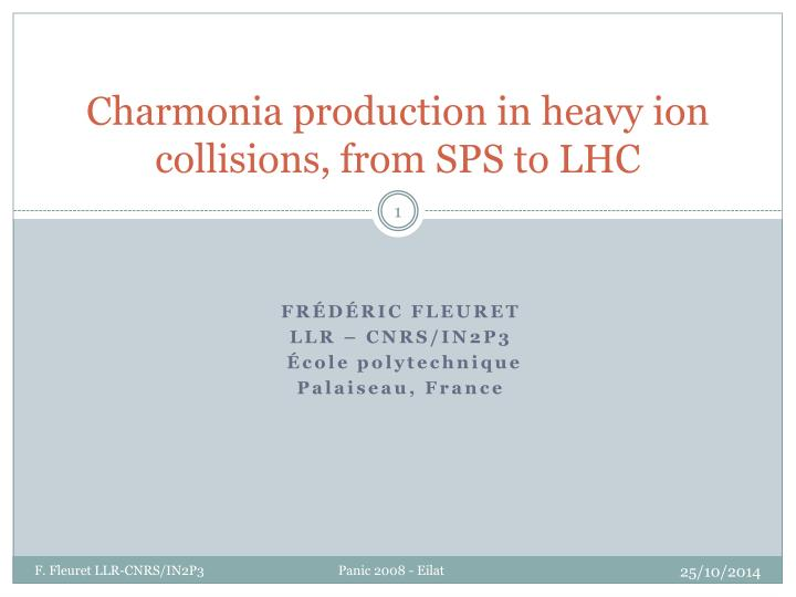 charmonia production in heavy ion collisions from sps to lhc n.