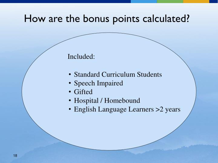 How are the bonus points calculated?