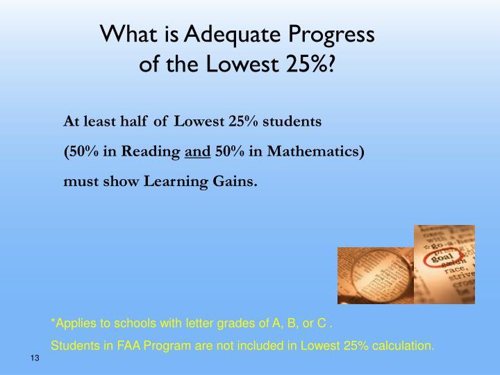 What is Adequate Progress