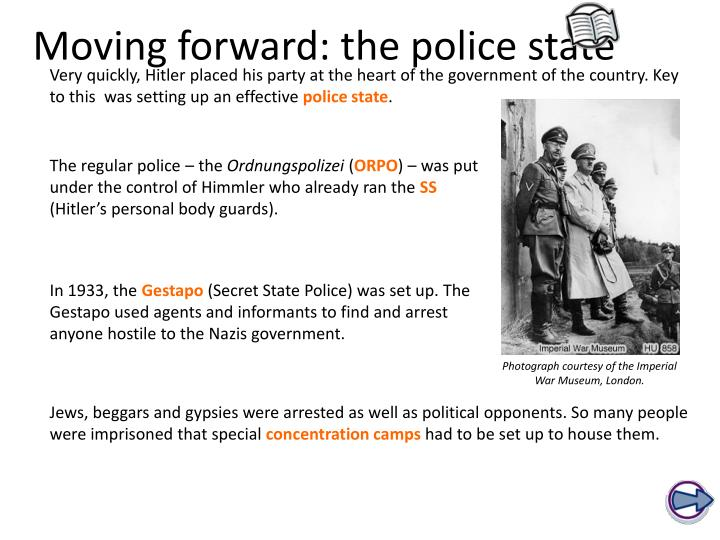 moving forward the police state n.