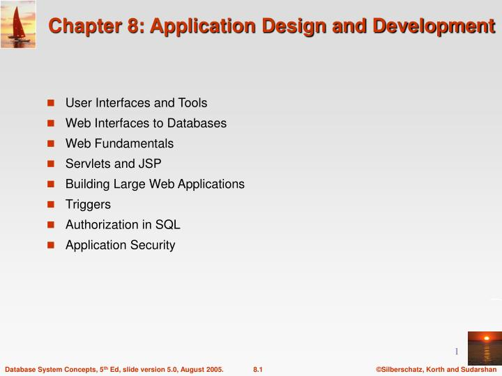 chapter 8 application design and development n.