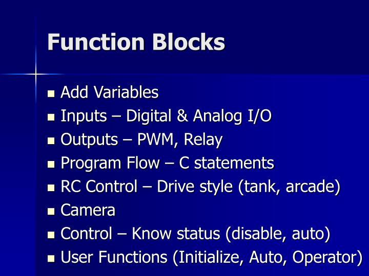 Function Blocks