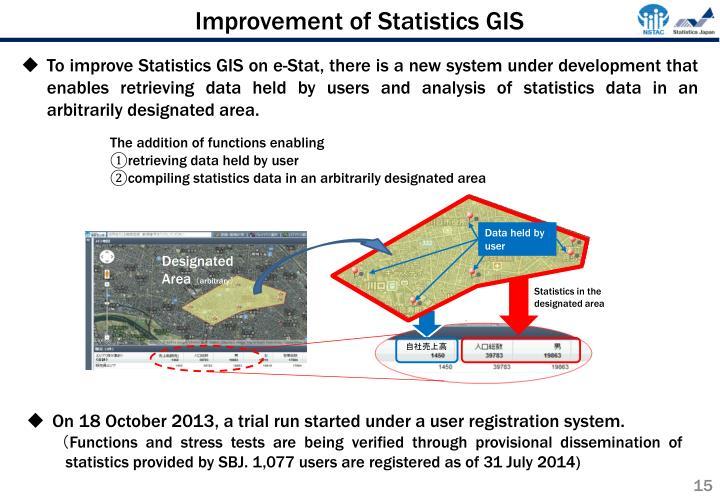 Improvement of Statistics GIS