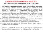 collaborazioni e consulenze con la p a art 7 d lgs n 16572001 modificato dall art 46 l n 133 2008