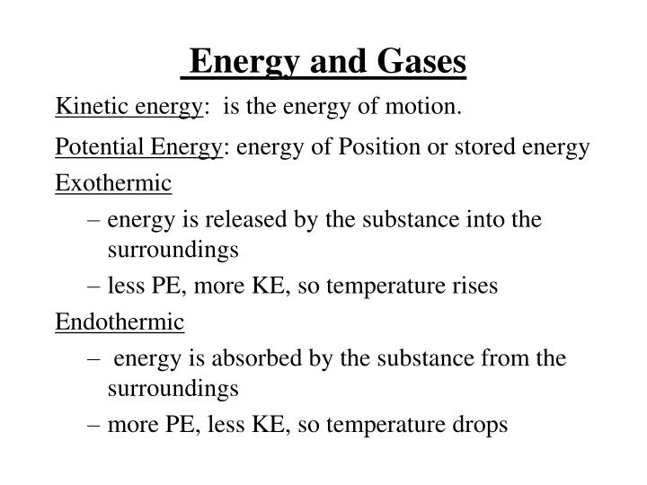 energy and gases n.