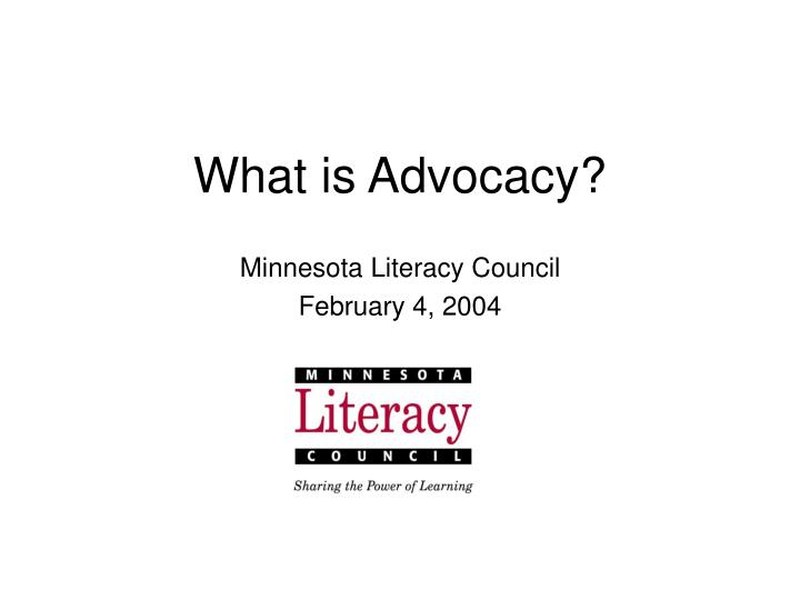 what is advocacy n.